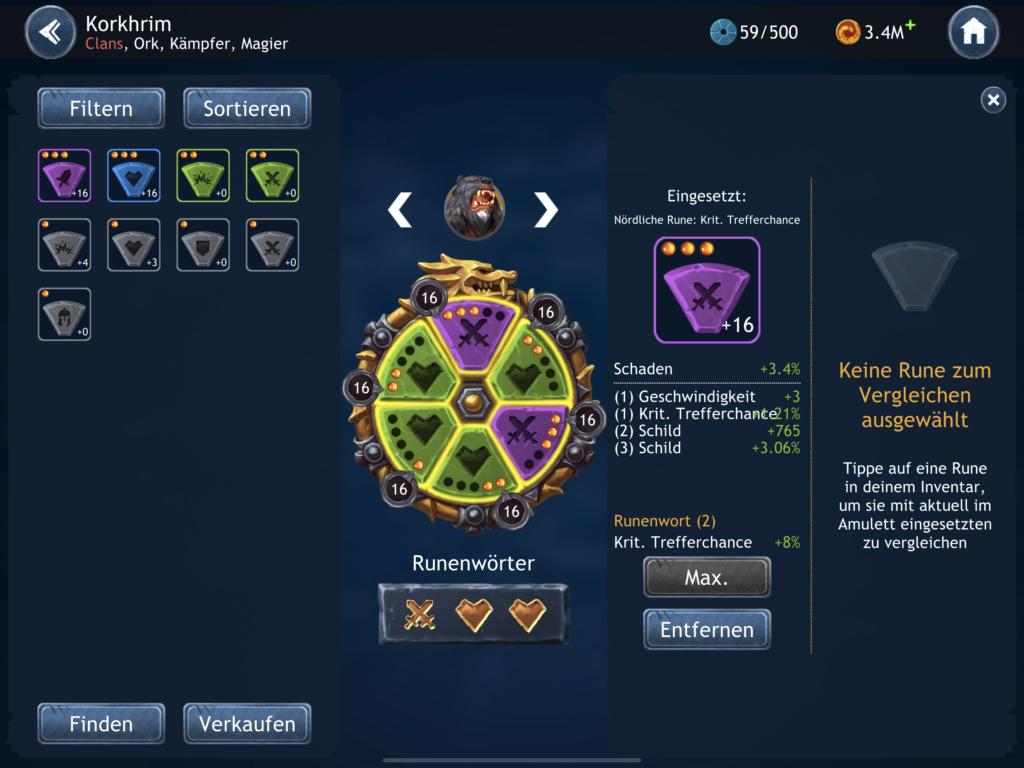 Runensystem Dragon Champions